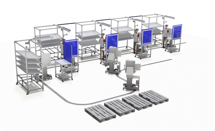 Tact controlled production line from Rimas